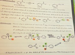 Organic chemistry study notes (sustainbrain) Tags: color notes shift chemistry organic outline mechanism premed reaction cannizzaro orgo hydride ochem