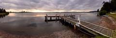 Sunset Jetty (Torkn2U) Tags: sunset panorama lake water belmont pano jetty wharf lakemacquarie squidsink