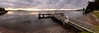 Sunset Jetty (Torkn2U) Tags: sunset panorama lake water belmont pano jetty wharf lakemacquarie squidsink