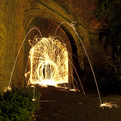 Wire Wool Tunnel Orb ([Nocturne]) Tags: nightphotography light lightpainting abandoned yellow night canon photo orb lime tunnels nocturne wirewool lpp noctography 5dmkii wwwnoctographycouk