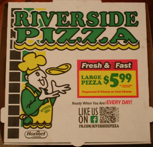 Riverside Pizza Pizza Box