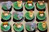 Zoo Animals Cupcakes (the cakeologist) Tags: elephant monkey cupcakes tiger safari giraffe fondant zooanimals gumpaste