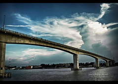 The Link............. (~~~Saif~~~) Tags: voyage bridge sky cloud nature water beautiful beauty river landscape canal nikon stream natural cloudy overpass journey link bond dhaka 1855mm nikkor bangladesh channel connection afs sadarghat buriganga passthrough d5100 nikond5100