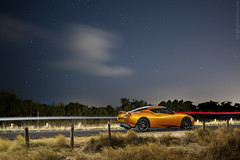 Lots Of Time Under Starlight (AndWhyNot) Tags: car night stars traffic lotus trails location evora lightpainted 4968