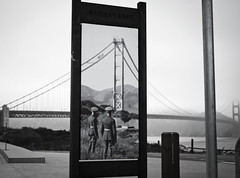 Blast From the past (Jacob Gilbreth) Tags: goldengate sanfrancisco bridge fog mist sf golden finalproject blackandwhite monochrome