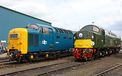 Crewe Gresty Bridge open day (Andrew Edkins) Tags: deltic whistler class55 class40 andania d213 d9009 alycidon crewe grestybridge openday diesels railwayphotography depot cheshire napier geotagged summer