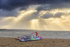 Boards (nicklucas2) Tags: seascape beach sea seaside solent cloud cloudsstormssunsetssunrises board windsurfing wave mudeford avonbeach