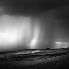 The storm (ilias varelas) Tags: storm light mood monochrome mono rainfall clouds ilias varelas greece field nature fields landscape land weather atmosphere blackandwhite bw