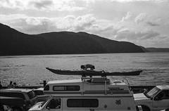 Tadoussac ferry (marisjukss) Tags: tadoussac quebec river trip caffenol film bw olympus35sp