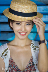 DSC08364 (inkid) Tags: hat street fashion female women model portrait outdoor bokeh dof ambient light  agnes lim people sony dslr a900 malaysia girl asian indoor dslra900 asiangirl chinese babe natural asianbabe photography lens pretty asianchick asiangirls asianmodel asianwomen beautiful girls lady shorthair models woman penang georgetown
