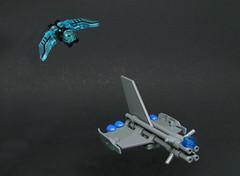 Interception (Karf Oohlu) Tags: lego moc microscale microspacetopia spaceship scifi intercept interceptor spacebattle