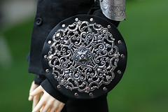 New Round Shield (brighnasa) Tags: bjd weapon shield armor armour ball jointed doll soom io metal leather straps