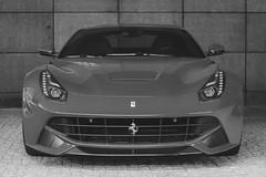 Ferrari F12 (amakles) Tags: ferrari f12 berlinetta v12 exotic bw black white italiy italian canon 50mm poland gran turismo polonia 2016