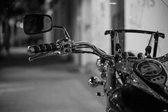 Soledad nocturna (NessSlipknot) Tags: espaa spain europa europe elescorial comunidaddemadrid noche nocturna night nocturne monocromtico monochrome blancoynegro blackandwhite bokeh moto calle street sony slta99 sal50f14