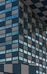 blue 'n gray (Karl-Heinz Bitter) Tags: architektur holland netherlands niederlande rotterdam nederland architecture building city urban karlheinzbitter khbitter windows fenster lines linien blau grau blue gray grafik graphic