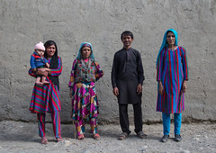 Afghan people with traditional clothing, Badakhshan province, Khandood, Afghanistan (Eric Lafforgue) Tags: 34years 3034years afghan098 afghanistan baby badakhshanprovince centralasia colourimage community ethnicgroup family fivepeople fullframe groupofpeople horizontal indigenousculture ismaili khandood lifestyles lookingatcamera man multicoloured necklace outdoors photography traditionalclothing typical wakhan wakhi women pamir