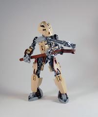 MOV - M'azzal (0nuku) Tags: bionicle lego toa sand fire stone banserko mazzal scythe gunblade hau komau