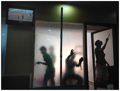 Men at work | Kolkata, 2016 (b i s w a j i t) Tags: streetphotography kolkata menatwork cricket television apollo gleneagles outdoor waiting room iphone 5 iphone5 mobile photography