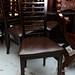 Dark beech restaurant chair