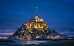 Mt St Michel at blue hour (giualia) Tags: nikonflickraward ngc stmichel normandy normandia france