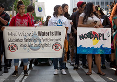 #NoDAPL march through downtown Seattle in solidarity with Standing Rock Sioux (Survival Media) Tags: dakotaaccesspipeline keepitintheground mniwiconi nodapl nodaplsolidarity pipeline seattle seattlecityhall solidarity standwithstandingrock standingrock washingtonstate waterislife march rally