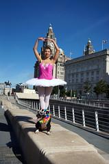 DSC06432 (liverpix) Tags: cleo dog performing anthonywalsh photowalk 500px liverpool pierhead liverbuilding ballerina ballet