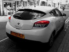 Renault Megane. (Marty's White Suit) Tags: automobiles cars uk selectivecolour vehicles motors megane renault