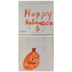 Connor knows what's up (the ghost in you) Tags: happyhalloween pumpkin ghosts jackolantern halloween fall october