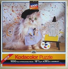 Die Knstlerkatze / The Cat Artist (Leonisha) Tags: puzzle jigsawpuzzle puzzleschachtel puzzlebox