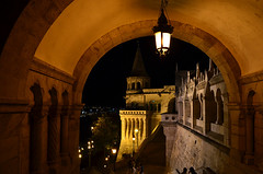 Baszta Rybacka, Budapest, Hungary (micebook) Tags: hungary budapest europe buildings local town city bridge tower culture synagoge castle architecture centre tourism ruins soldiers streets roads railings sky water