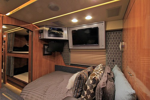 Liberty - Rear Lounge with bed installed - facing forward