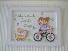 quadro maternidade irms (Imer atelie) Tags: bike rosa bicicleta quadro infantil porta bebe quarto menina decorao meninas tinta parede nene pintura loira isabela mdf irms lilas colorido enfeite ceclia puxando delicado chegou irmazinha enxoval borboletinhas imeratelie materdnidad