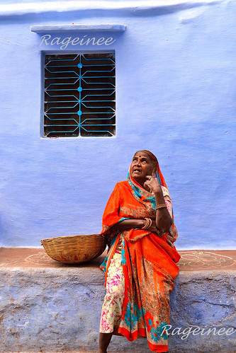 Village woman with Basket