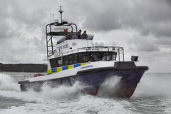 POLICE CAT COMMANDER (John Ambler) Tags: new sea by marine south police hampshire east special catamaran products osbourne isle cowes trials commander wight units baybuilt bpoats