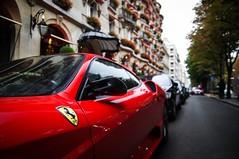 F430 Scud (Arnaud Bailly) Tags: plaza red paris detail cars rain canon rouge nikon shot pentax pluie ferrari ag tamron scuderia supercar spotting 430 scud