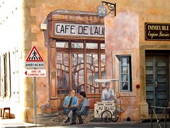 """Trompe l'oeil à Puichéric (Aude, France) (Gérard Farenc (slowly back) !) Tags: france europe village 11 aude"