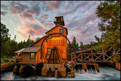 Striking Gold (Coasterluver) Tags: sunset mill disneyland disney dca hdr disneycaliforniaadventure redsunset grizzlyriverrun grizzlyriverrapids grizzlyrapids andrewkirby coasterluver