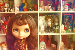 you have too many dolls (girl enchanted) Tags: bear white ikea vintage toy junk dolls bears barbie disney shelf collection kenner barbies 1972 takara clutter collectibles dollies moof toyroom expedit blythes kenners moofs dollyroom