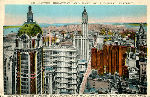 New York - Lower Manhattan (Postcard c.1 by roger4336, on Flickr