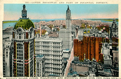 New York - Lower Manhattan (Postcard c.1914)