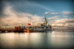 Deniz Müzesi, Izmir (Nejdet Duzen) Tags: longexposure travel sea cloud museum t ship türkiye submarine deniz warship izmir bulut müze uzunpozlama inciraltı savaşgemisi mygearandme bestevercompetitiongroup denizlatı seurkey turkeiyahat