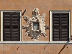 Rome Outdoor Image 004 (Atelier Teee) Tags: italy rome window angel wallart shutters cherub portal fresco religiousimage atelierteee terencefaircloth