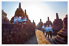 Borobudur Indonesia (Albert Photo) Tags: sunset sky sun heritage history monument forest sunrise indonesia temple java asia stupa buddhist tourist yogyakarta borobudur traveler historicalsites mahayana historicallegacy