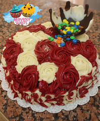 "+ "" "" (Heavenly Sweets ) Tags: cakes cup floral cake colorful chocolate sweets heavenly qatar maltesers"