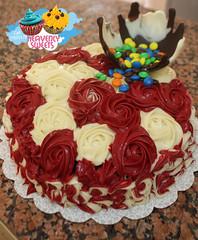 """كيكة الورد + """"إنفجار الشوكولا"""" (Heavenly Sweets ☁) Tags: cakes cup floral cake colorful chocolate sweets heavenly qatar maltesers عبدالله كيك قطر أم فراولة زخارف توزيعات شوكولا كب"""