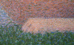 Seurat, A Sunday on La Grande Jatte—1884, detail with smoker's hand