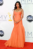 Padma Lakshmi 64th Annual Primetime Emmy Awards, held at Nokia Theatre L.A. Live - Arrivals Los Angeles, California