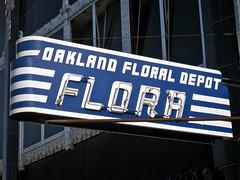 Flora, Oakland, CA (Robby Virus) Tags: california flowers floral sign 1931 restaurant oakland evans flora downtown neon albert depot artdeco cocktails