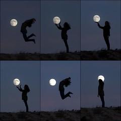 6 Lunas. (benitojuncal) Tags: moon luna galicia pontevedra rias baixas