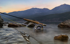 BC FLY FISHING (Rob McKay Photography) Tags: leica sunset lake canada mountains water fly fishing bc 28mm rod trout asph kootenay reel m9 bokehensteincom robmckayphotographycom